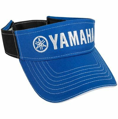 OEM Yamaha Royal Blue & Black Cotton Twill Visor Hat