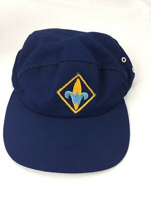 Vintage Webelos Cub Scout Official Blue Hat Fitted size 6 5/8