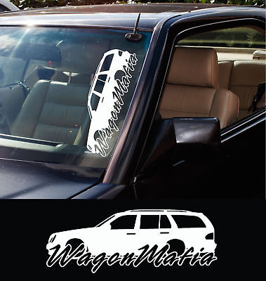 2x large Wagon Mafia stickers - for Mercedes w210 E-Class Station wagon