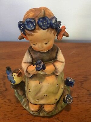 HUMMEL GOEBEL Girl With Blue Flower And Blue Bird NO BOX