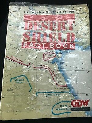 Desert Storm Shield Fact Book With Map Free Shipping New Sealed Never Opened