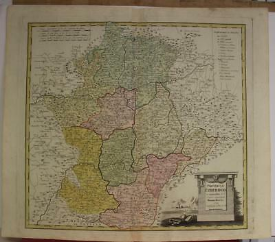 Extremadura Spain 1791 Homann Heirs Antique Original Copper Engraved Map