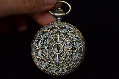 Clock Copper good Used Manual Mechanical armstrong's patent Pocket Watch COPY