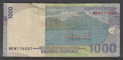 INDONESIA 2000 1000Rupiah Note Circulated