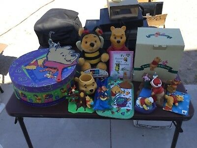 Winnie the Pooh and friends figurines / characters Lot hat box birthday
