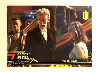 2016 Doctor Who Extraterrestrial Encounters #98 Face the Raven YELLOW NM-Mint