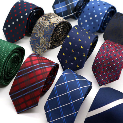 Fashion Men's Necktie 6CM Polka Dot Skinny Narrow Slim Neck Tie For Wedding