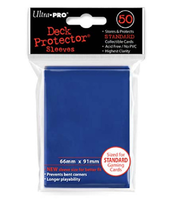 Ultra Pro Gaming & MTG Sleeves Deck Protector BLUE Standard Size 50 Count Pack