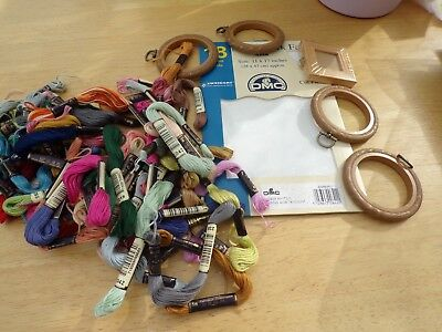 **Joblot of  Anchor Cottons, Aida, Frame & Flexi Hoop's**
