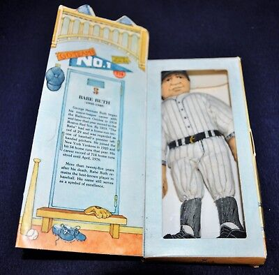 Vintage 1979 Hallmark Babe Ruth Baseball Doll Famous American Series Orig Box