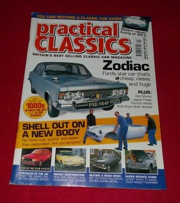 Practical Classics Car Magazine February Issue Two 2001