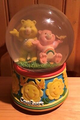 Vintage 1980's Care Bears Music Box Snow Globe You are my Sunshine # 249350