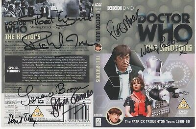 Dr Who The Krotons DVD Cover Auto by 7 People