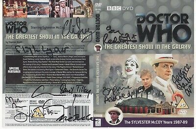 Dr Who Greatest Show Galaxy DVD Cover Auto by 10 People