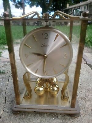 KERN Four Glass Anniversary Mantle Clock Lantern Carriage Clock Germany REPAIRS