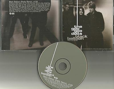 GOO GOO DOLLS black Balloon RARE RADIO REMIX 1999 USA PROMO Radio DJ CD Single
