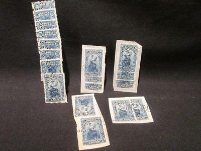Canadian Revenue Assortment of 1902 Yukon Law Stamps on Document Pieces