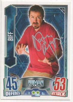 "Dr Who Alien Attax Card No.123 Auto by Daniel Ryan ""Biff"""