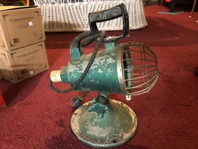 Vintage Homelite Port Chester NY Cast Aluminum Industrial Light,Upcycle