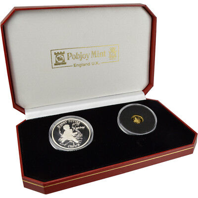 2001 Isle of Man Harry Potter Philosopher's Stone Gold & Silver Proof 2-Coin Set