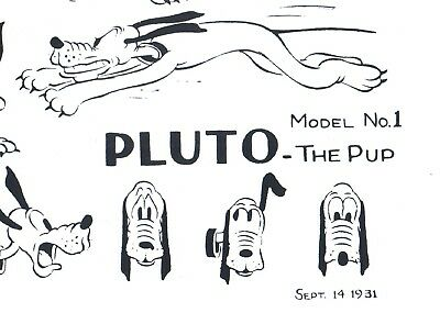 Disney Pluto The Pup production animation model sheet