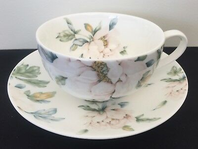 Laura Ashley Teacup & Saucer Pink Peony Flowers design Lovely collectable VGC
