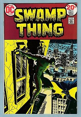 Swamp Thing # 7 Vfn (8.0)  Batman Coverstory- Wrightson Art- Glossy- Cents- 1973
