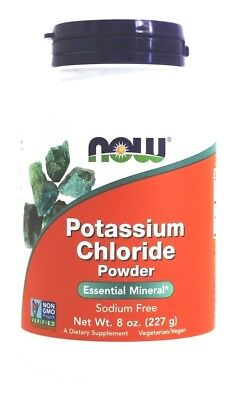 NOW Foods POTASSIUM CHLORIDE Powder - 8 oz (227g) Table Salt Substitute