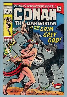 Conan The Barbarian # 3 Fn+ (6.5) Low Distribution- Barry Smith Art- Cents- 1971