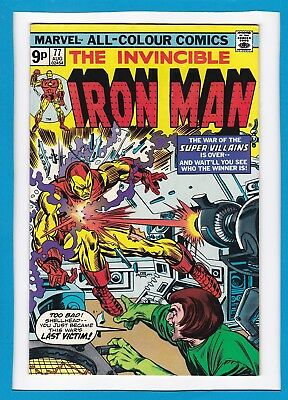 Invincible Iron Man #77_August 1975_Very Fine_Mad Thinker_Yellow Claw_Firebrand!