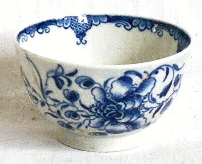 C18Th Worcester Blue And White Tea Bowl
