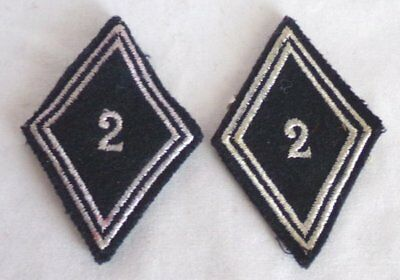 (2) French Army 2nd Regiment Dragoons Diamond Patches
