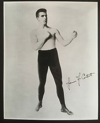 Nice Photograph Of The Great Heavyweight Champion James J. Corbett In Pose!!