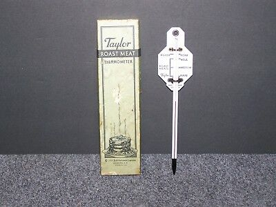 Vintage Taylor Roast Meat Thermometer In Box 1934 Rochester, NY