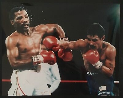 Lovely Photo Of Legends Aaron Pryor And Alexis Arguello In Vicious Action 1983!!