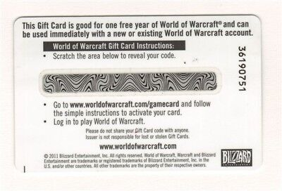 WORLD OF WARCRAFT 1 year Prepaid Game Card EU (digital code only)