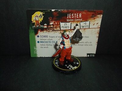 "HORRORCLIX  Jester #016, Rookie, Yellow, ""NEW"" W/Cards Base Set"