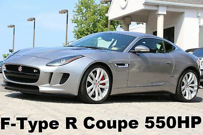 "Jaguar F-TYPE R Coupe 2015 550 HP Lunar Grey Auto Navigation 20"" Tornado Wheels 4 New Tires Like New"