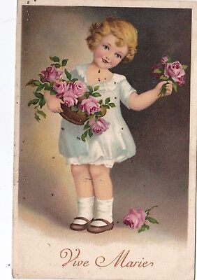 t children early old antique postcard greetings