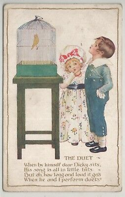 t children early old antique postcard greetings comic