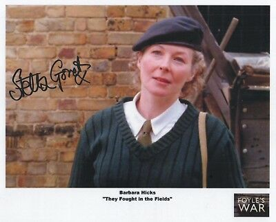 "Foyles War Auto Photo Print Stella Gonet ""Barbara Hicks"""