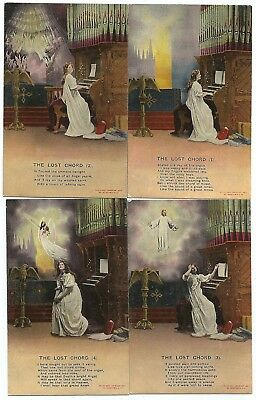 t religious early old 4 antique postcard religion the lost chord