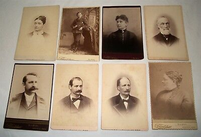 Antique Cabinet Card Photo Lot Medfield Mass Parker Mitchell Gilbert Vintage