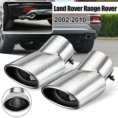 2Pcs Stainless Steel Exhaust Muffler Oval Tail Pipe Tip For Range Rover Sport