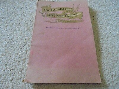 Vintage 1924 South Africa Pietersburg & the Northern Transvaal