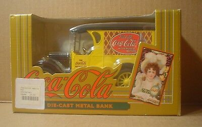 Coca Cola Die-Cast 1933 Yellow Delivery Truck Bank ~ ERTL ~ New in Box
