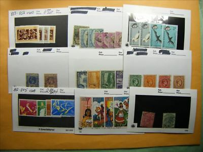 3369 Br. Commonwealth Lot of 9 Used Stamp Packs