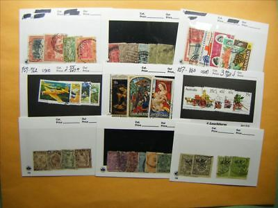 3376 Br. Commonwealth Lot of 9 Used Stamp Packs