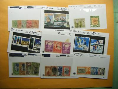 3381 Br. Commonwealth Lot of 9 Used Stamp Packs