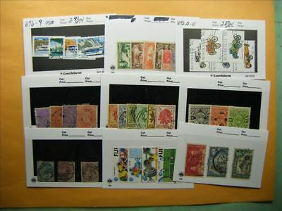 3382 Br. Commonwealth Lot of 9 Used Stamp Packs
